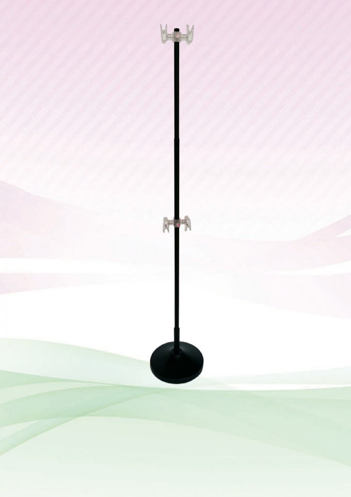 Clip Pole – (Adjustable) Metal Black